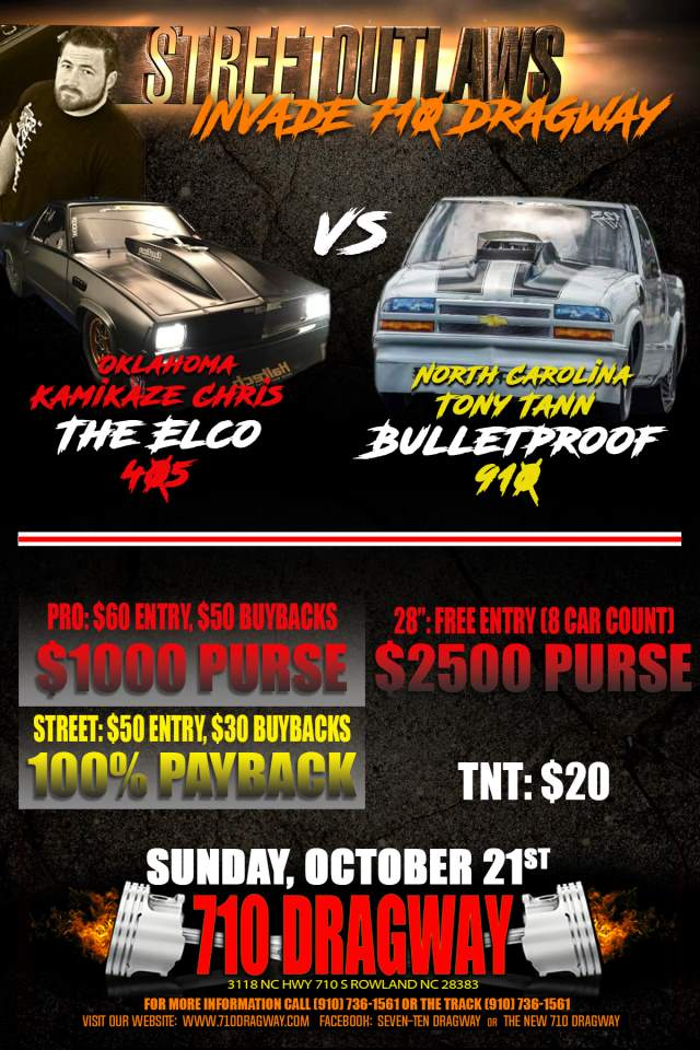 Street Outlaws Sunday, Oct 21