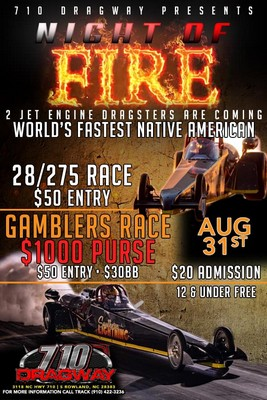 Sat, Aug 31st Night of Fire
